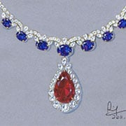 Learn to draw jewelry and gemstones in our rendering class for Learn to draw jewelry