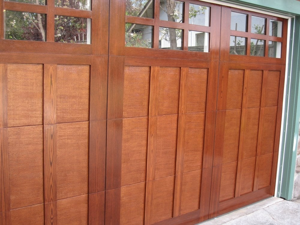 Garage doors painted to look like wood yelp for Paint garage door to look like wood