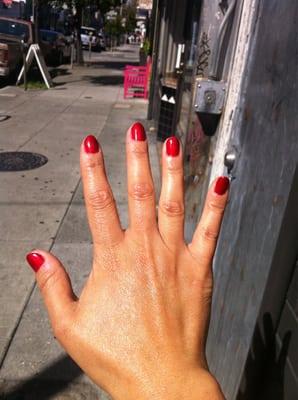 Gelish-gel manicure #17 on short nails.   Yelp
