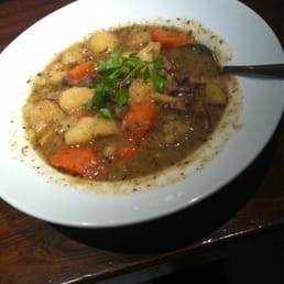 Traditional Irish Stew and a tea for 11.95, St Paddy's Day special.