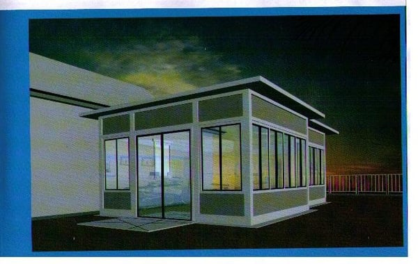 Sunroom with flat roof available in a variety of sizes to for Sunroom sizes
