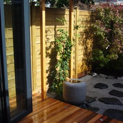 Cedar Decking to a new Japanese Style garden