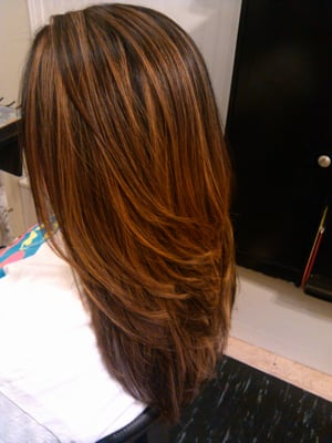 Color, Low LIghts, Cut. Hair by: Nellie O | Yelp