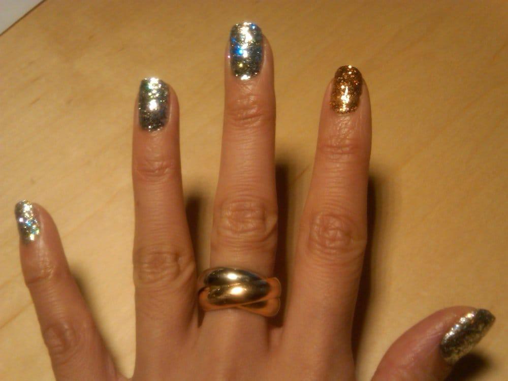 Calgel glitter at sakura nail yelp for Acrylic nail salon nyc