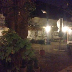 "Blick in den ""Biergarten"" im Winter"