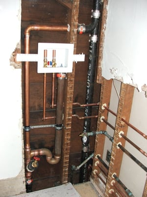 laundry room rough plumbing installed by us yelp