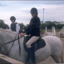 Myself on a pony at Forest Equestrian Centre