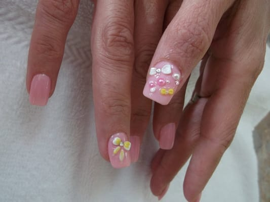 Bow 3d nail designs yelp for 3d nail art salon
