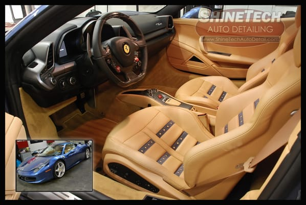 ferrari 458 italia interior leather cleaning and conditioning yelp. Black Bedroom Furniture Sets. Home Design Ideas