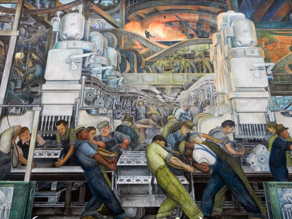 Diego rivera detroit industry for Diego rivera mural detroit