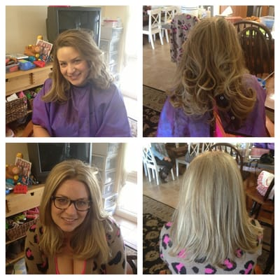 From brunette to blonde hair by katie yelp for 3 brunettes and a blonde salon