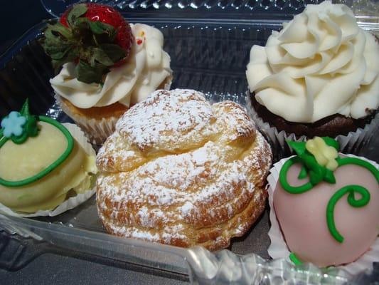 Goodies: Lemon & Red Velvet Cake Truffles,Cream Puff,Strawberry ...
