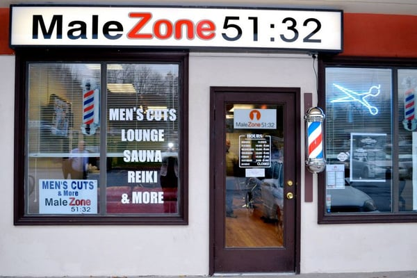 The outside view of Male Zone 51:32 Barber Lounge & Spa Yelp