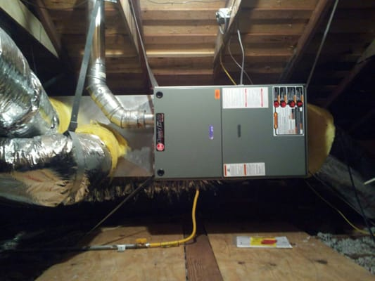 Furnace Installation In An Attic Horizontal Application