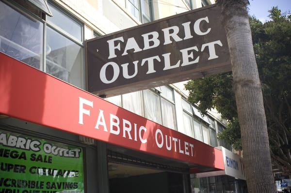 Fabric outlet fabric stores san francisco ca yelp for Fabric outlet near me