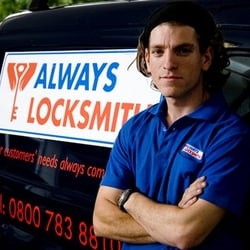 Locks and locksmiths from Always Locksmith. 24/7 service, 35 min. response time. Lock change, lock replacement, locked out
