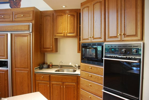 Oak cabinets refinished | Yelp