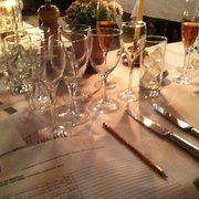 table setting for the cheese and wine tasting
