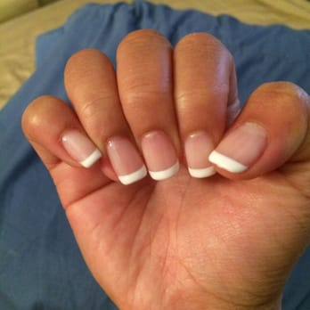 Shellac French tip manicure