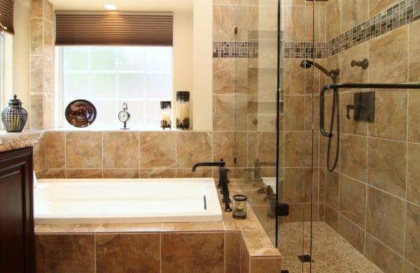 Master Shower And Adjoining Bathtub Yelp