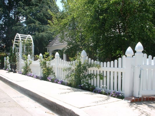 White Picket Fence On Pinterest White Picket Fences