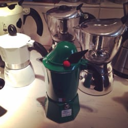 Cool green espresso maker!