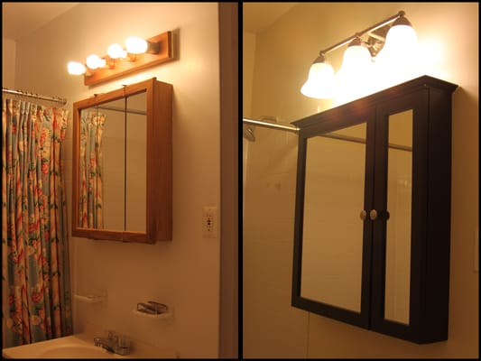 Installed new medicine cabinet and light fixture | Yelp
