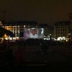Open Air Kino Rathausmarkt, Hamburg, Germany