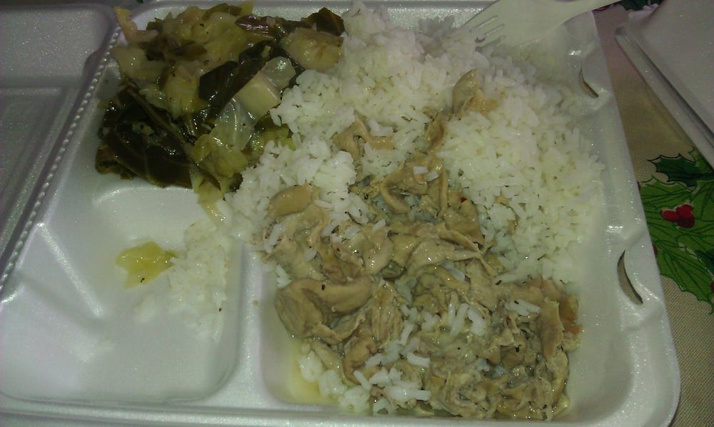 Chitterlings mixed with rice (the way that I like to eat them) and ...