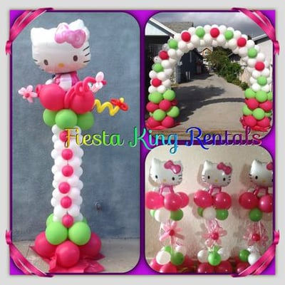 Hello Kitty Balloon Decoration . Call at 323-809-0115 for