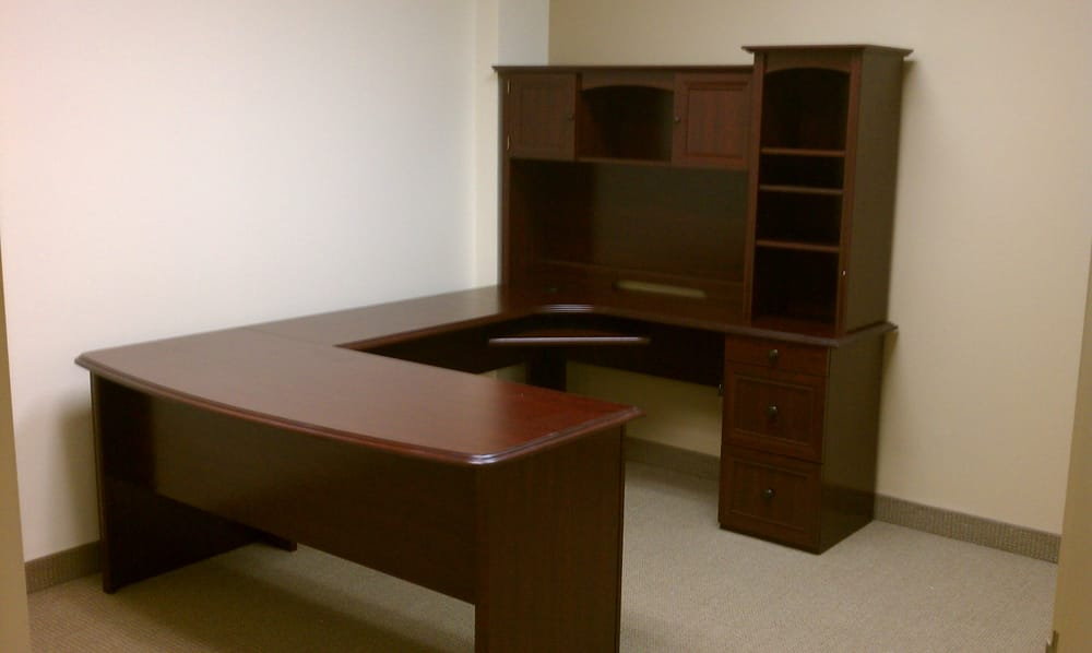 Realspace Broadstreet L-Shaped Desk with Hutch | Yelp