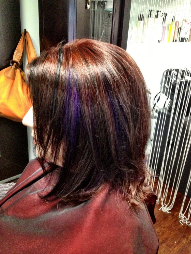 Dark Violet Highlights Or Lowlights   Dark Brown Hairs