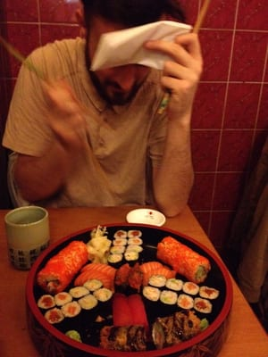 About €30 worth of sushi