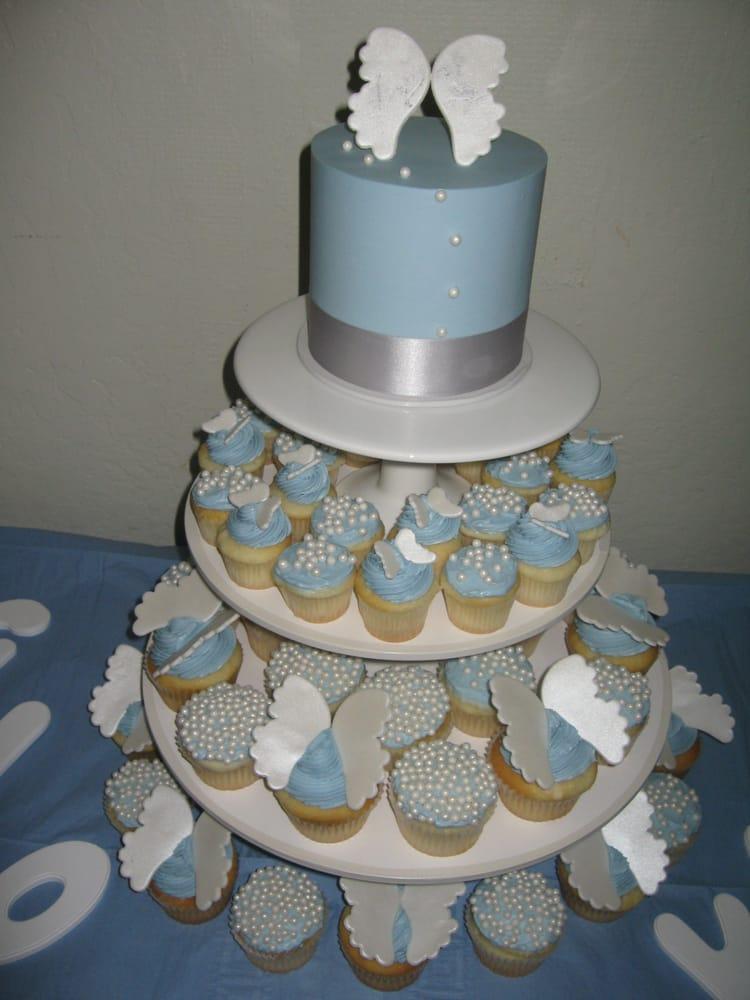 baby shower angel themed cupcake tower yelp