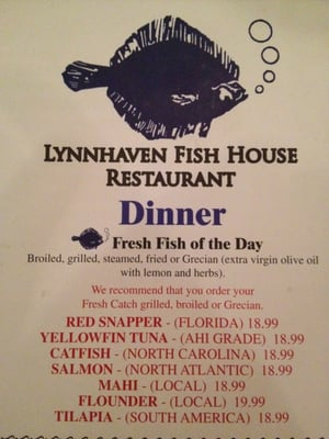 Lynnhaven Fish House on Fresh Cathc Of The Day    Yelp