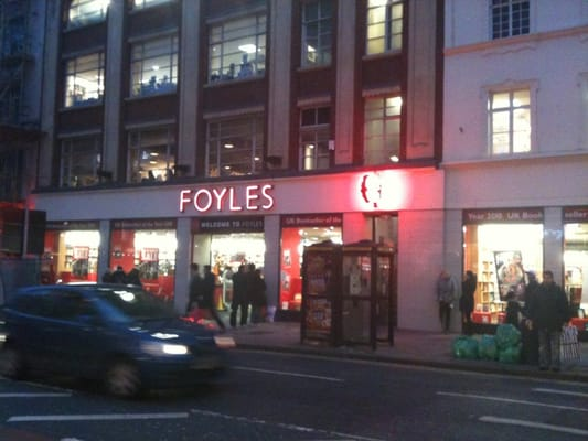 Foyle's in the evening