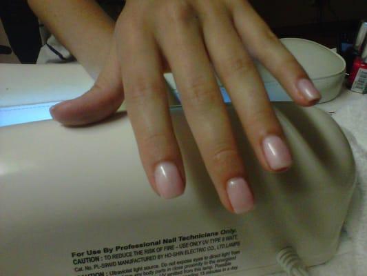 HSO natural custom Shellac Nails. | Yelp