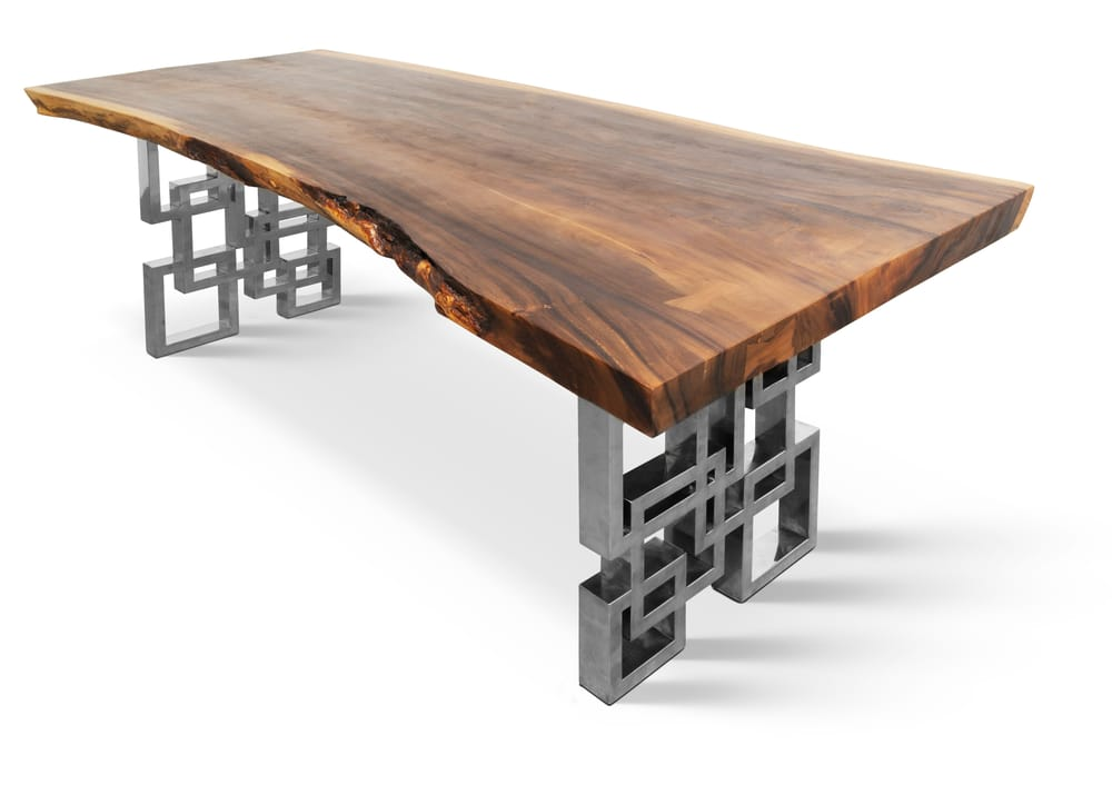 73quot live edge hardwood dining table on polished custom  : o from www.yelp.com size 1000 x 706 jpeg 37kB