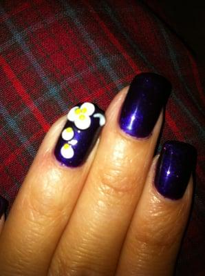 Shellac Nails w/ 3D design