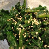 Spinach in sesame sauce