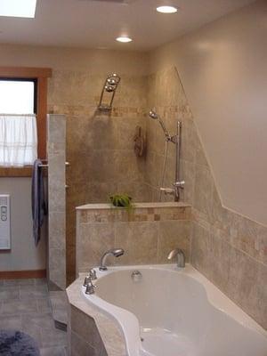 Custom Open Shower Tub No Glass No Splash Yelp