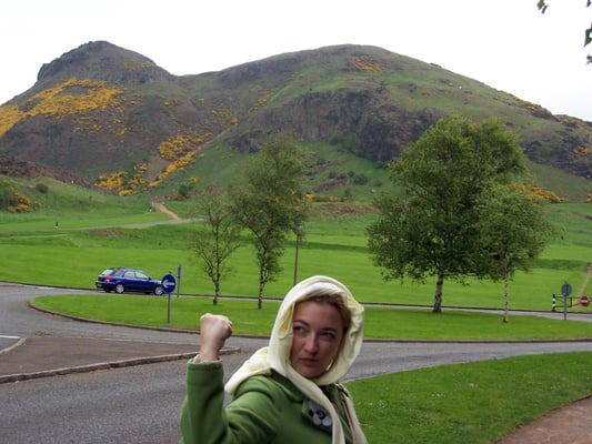 I shake my fist at you! I will conquer you Arthur's Seat!