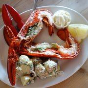 whole maine lobster with herb and potato salad, £21.