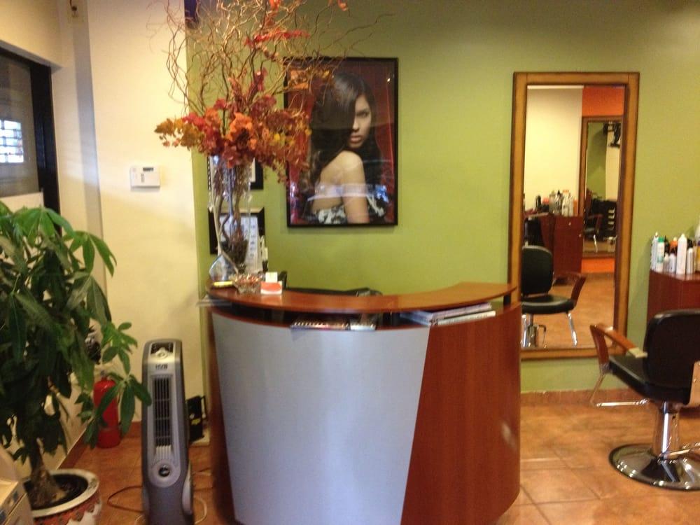 Front desk of shaliel beauty salon yelp for A b beauty salon houston