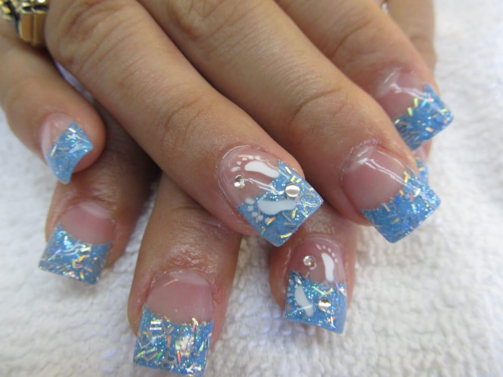 Baby shower nail design yelp