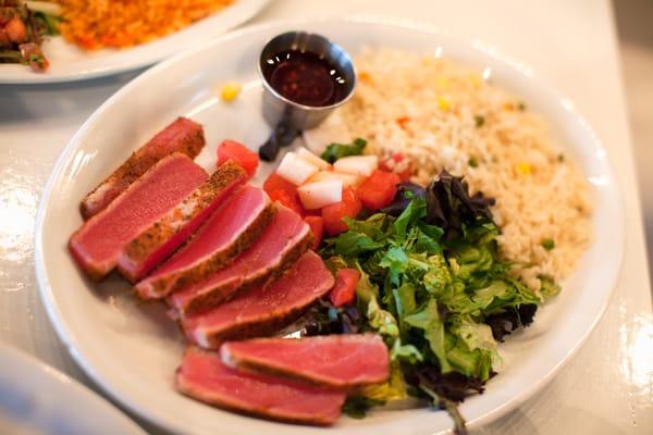 Chile seared tuna rare sashimi grade tuna with mexican for Where to buy sashimi grade fish near me
