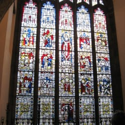 St Martin window: dating from 1440, it is 9m high and 4m wide.