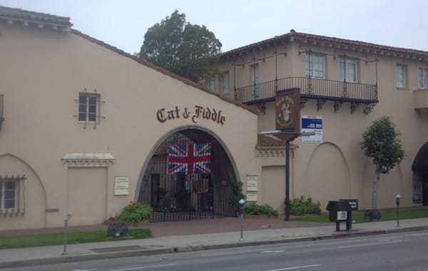 Cat and Fiddle restaurant and pub on Sunset Blvd. in Hollywood.