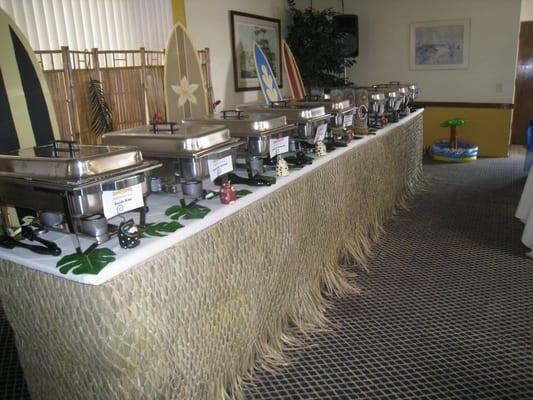 Luau Buffet Table SetUp Deco