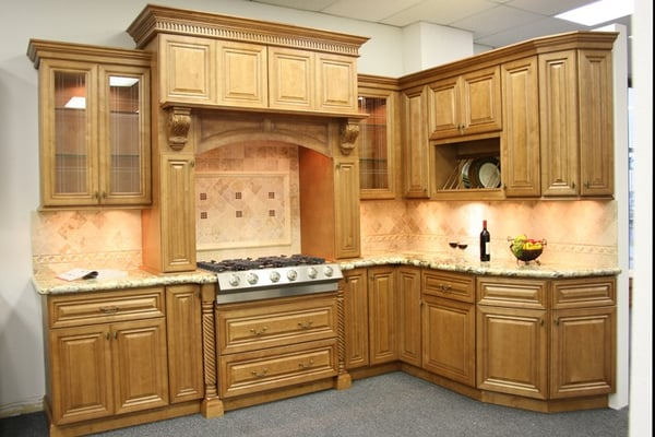Cinnamon Glaze Kitchen Cabinets  Yelp